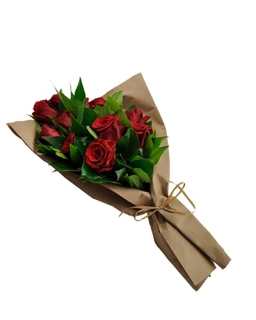 The Red Rose Wrap Flower Arrangement