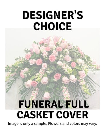 Designer's Choice Full Casket Cover Funeral Casket Spray Flowers