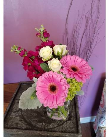 Mason Chic Flower Arrangement