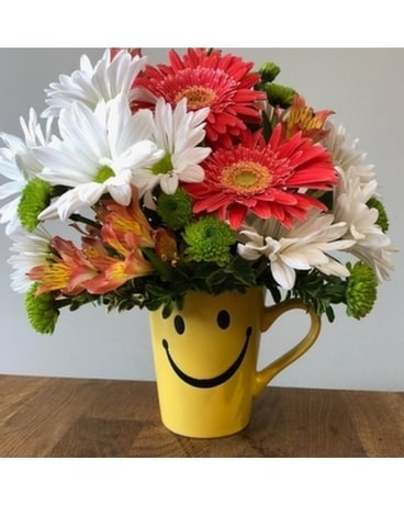 Cup of Cheer Flower Arrangement