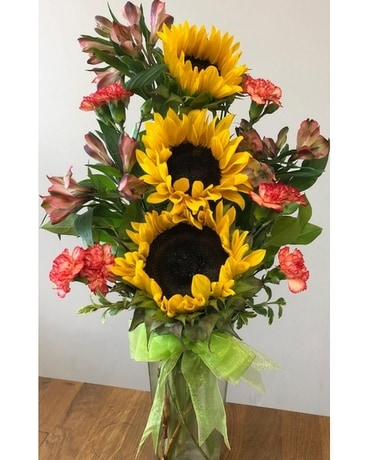 Happy Sunflower Flower Arrangement