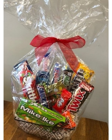 Candy Treat Basket Gift Basket
