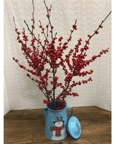 Winter holiday Flower Arrangement