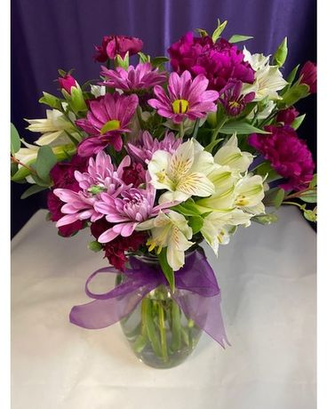 Beautiful in Purple Flower Arrangement