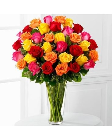 The Bright Spark™ Rose Bouquet Flower Arrangement