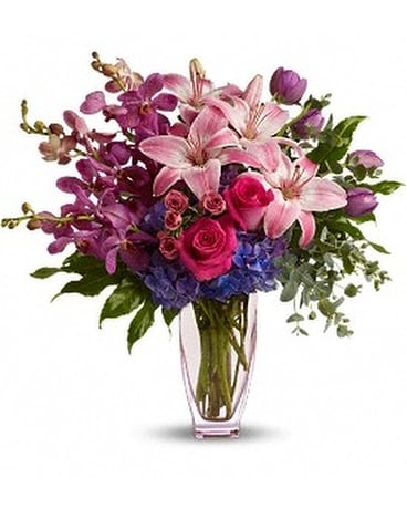 Teleflora's Purple Perfection Flower Arrangement