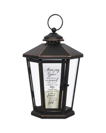 Lantern- Hexagon Black 2 Amazing Grace Gifts
