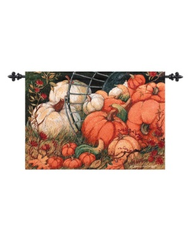 Wall Hanging - Pumpkin Flower Arrangement