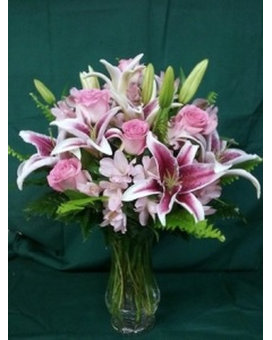 LF- Stunningly Pink Bouquet Flower Arrangement