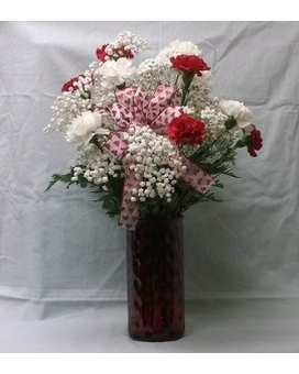 LF - Our Carnations Vased Flower Arrangement