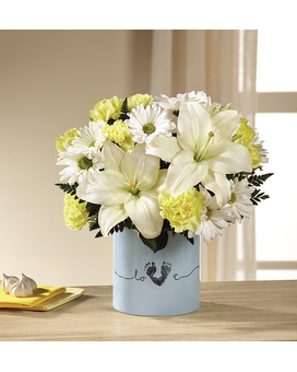 FTD Tiny Miracle New Baby Boy Flower Arrangement