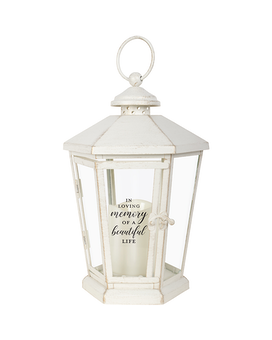 Lantern - Hexagon Cream 3 Beautiful Life Gifts