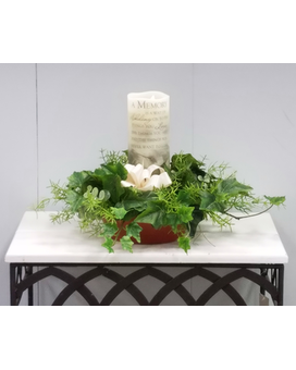 Candle Pillar Silk Arrangement Gifts