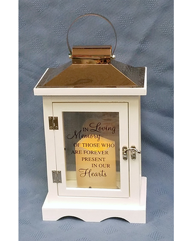 Natures Depot White Lantern - In Loving Memory Gifts
