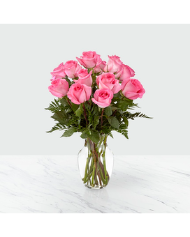 FTD Smitten Pink Rose Bouquet Flower Arrangement
