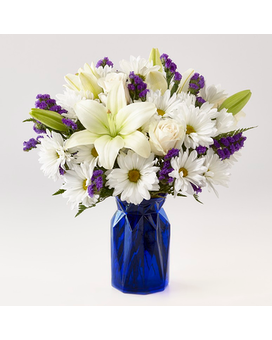 FTD  Beyond Blue Bouquet Flower Arrangement