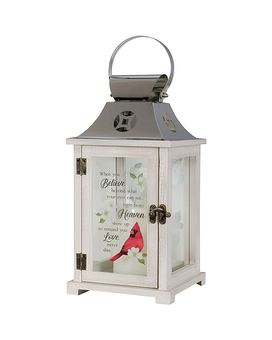 Lantern - Cardinal and Gardenia - Love Never Dies Gifts