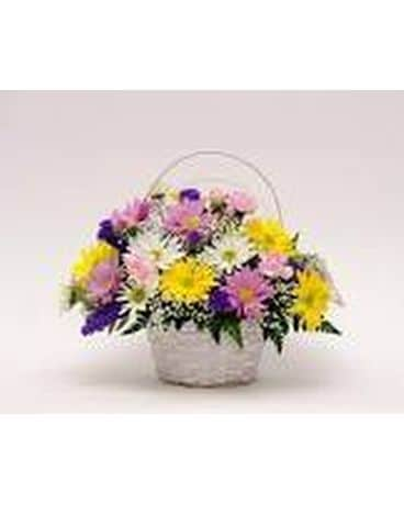 Florist Designed Basket Arrangement Flower Arrangement