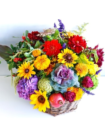Harvest Basket Flower Arrangement