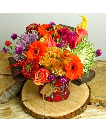 Plaid Shine Flower Arrangement