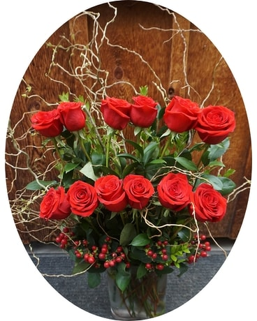 Contemporary Roses Flower Arrangement
