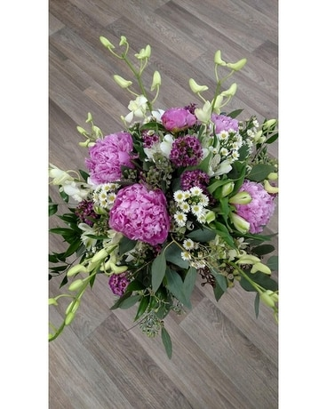 Peonies and Roses Wedding Arrangement