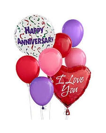 Anniversary Balloon Bouquet Flower Arrangement