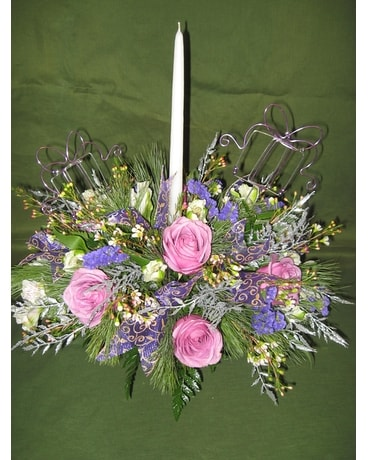 Purple Christmas Celebration Flower Arrangement