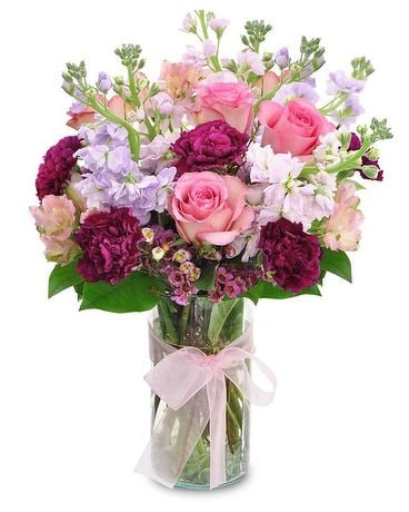 Paynes' Pretty Pink & Purple Flowers Flower Arrangement