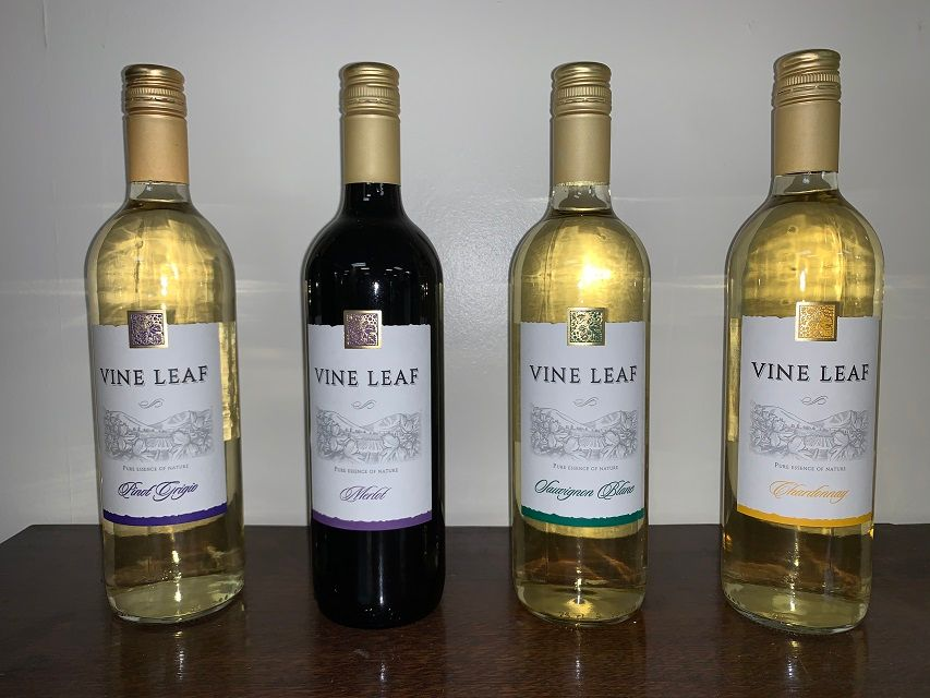Add a bottle of Vine Leaf wine to your order!