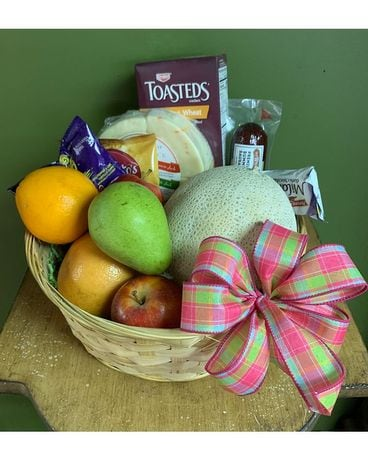 Gourmet Snack Basket Medium Basket Arrangement