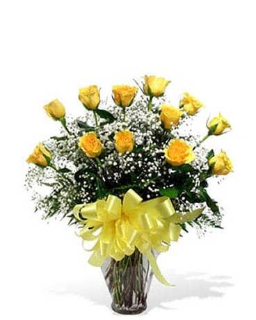 Classic Yellow Roses Flower Arrangement