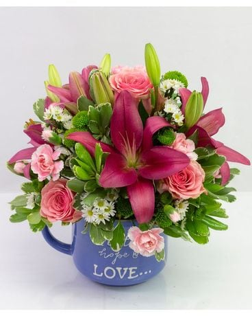 Hope in a Mug Flower Arrangement