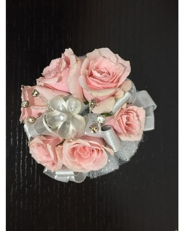 Pink Silver Flower Corsage In Hutto Tx Lets Talk Flowers