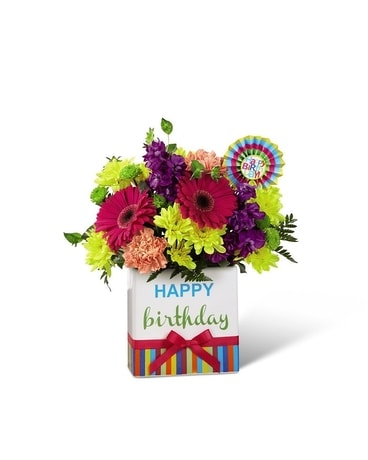 Birthday Brights Bouquet Flower Arrangement