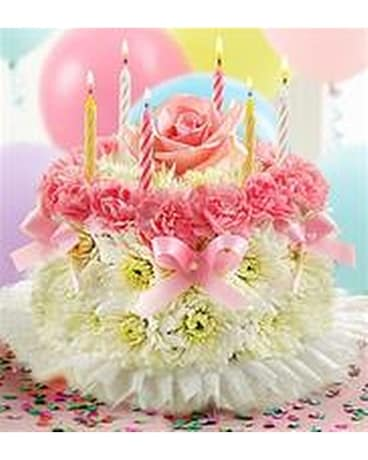 Flower Birthday Cake in Murray UT Sky Floral and Specialty Gifts