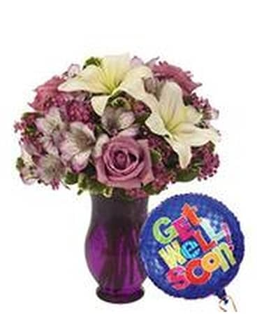 Get Well Bundle Flower Arrangement