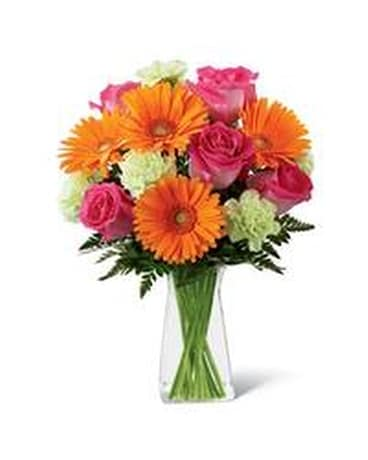 Orange and Pink Flower Arrangement