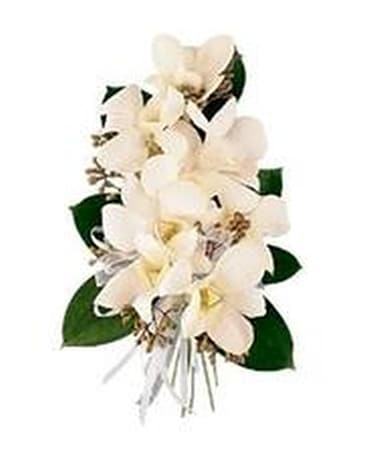 All White Everything Corsage