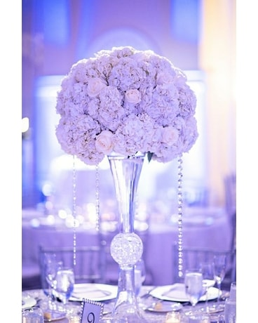 Purple Elegance Centerpiece Wedding Arrangement