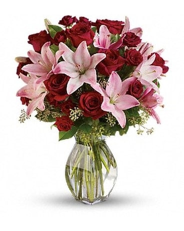 Lavish Love Bouquet with Long Stemmed Red Roses Flower Arrangement