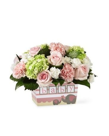 Darling Baby Girl Bouquet Flower Arrangement