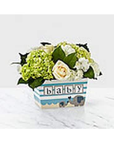 Darling Baby Boy Bouquet Flower Arrangement
