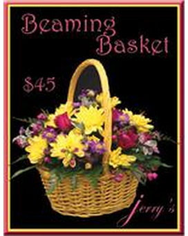 Beaming Basket Flower Arrangement