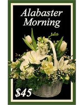 Alabaster Morning Flower Arrangement
