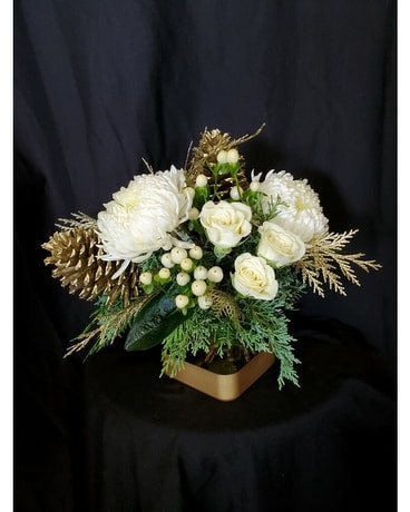 Dipped in Gold Flower Arrangement