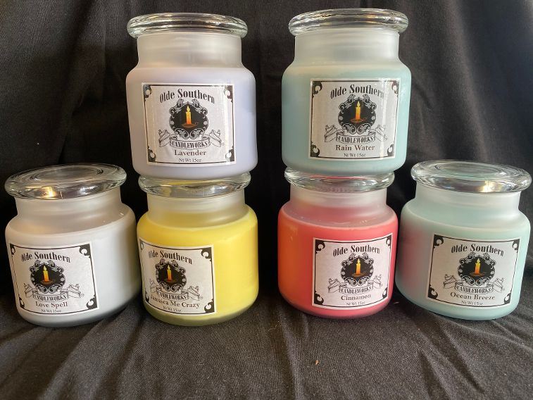 Local Hand Crafted Candles Cont.