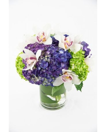 Pretty Hydrangeas & Orchids Flower Arrangement
