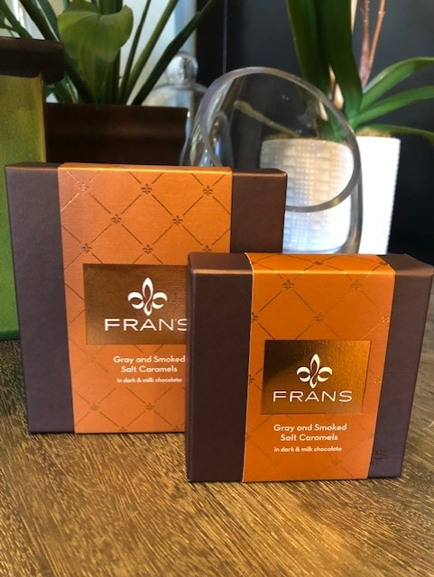 We carry both Fran's and Seattle's Best chocolates