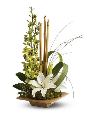 Bamboo Serenity Flower Arrangement